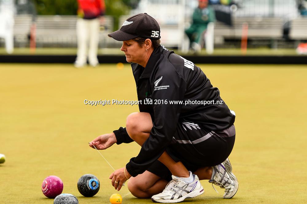 Jo Edwards (NZL) during the World Bowls Championships, Christchurch, New Zealand, 1st December 2016. © Copyright Photo: John Davidson / www.photosport.nz