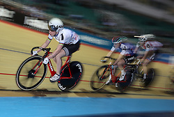 Great Britain's Laura Kenny in action during the Women's Omnium Points Race, during day one of the Six Day Series at the HSBC National Cycling Centre, Manchester.
