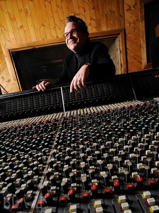 Producer/Writer Mark Avsec photographed at Mars Recording Studio in Streetsboro, Ohio.