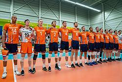 09-06-2019 NED: Golden League Netherlands - Spain, Koog aan de Zaan<br /> Fourth match poule B - The Dutch beat Spain again in five sets in the European Golden League / Line up Netherlands