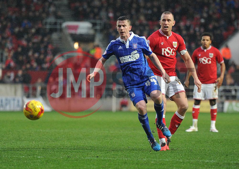 Aaron Wilbraham of Bristol City Battles  - Mandatory byline: Alex James/JMP - 13/02/2016 - FOOTBALL - Ashton Gate - Bristol, England - Bristol City v Ipswich Town - Sky Bet Championship