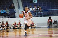 """Ole Miss' Toree Thompson (1) vs. Christian Brothers in an exhibition basketball game at the C.M. """"Tad"""" Smith Coliseum in Oxford, Miss. on Friday, November 7, 2014. (AP Photo/Oxford Eagle, Bruce Newman)"""
