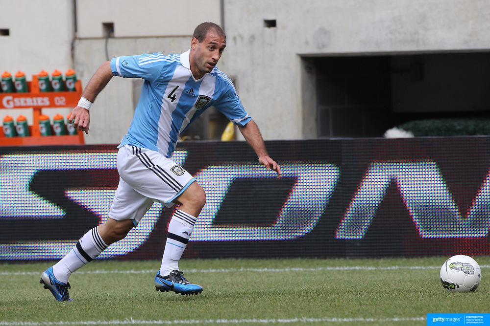 Pablo Zabaleta, Argentina, in action during the Brazil V Argentina International Football Friendly match at MetLife Stadium, East Rutherford, New Jersey, USA. 9th June 2012. Photo Tim Clayton