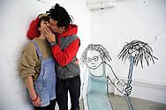 Les artistes Ella & Pitr dans leur atelier à Saint-Etienne