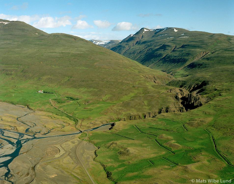 Egilsá séð til suðausturs, Akrahreppur / Egilsa viewing southeast, Akrahreppur