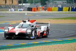 June 15, 2018 - Le Mans, Sarthe, France - Toyota Gazoo Racing Toyota TS050 Hybrid Driver MIKE CONWAY (GBR) in action during the 86th edition of the 24 hours of Le Mans 2nd round of the FIA World Endurance Championship at the Sarthe circuit at Le Mans - France (Credit Image: © Pierre Stevenin via ZUMA Wire)