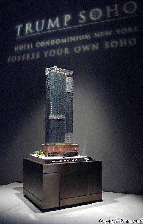 The Trump Soho Hotel Condominium launches in New York City, USA on September 19, 2007.