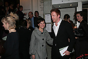 HELEN MCCRORY AND DAMIAN LEWIS, Tom Cairns directs Almeida Fundraising Benefit sponsored by Coutts and Co. -A Chain Play by Samuel Adamson, Moira Buffini, David Hare, Charlotte Jones, Frank McGuinness and Roy Williams. Almeida theatre. London. 23 March 2007.  -DO NOT ARCHIVE-© Copyright Photograph by Dafydd Jones. 248 Clapham Rd. London SW9 0PZ. Tel 0207 820 0771. www.dafjones.com.