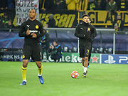 Jadon Sancho of Dortmund warms up during  the Champions League round of 16, leg 2 of 2 match between Borussia Dortmund and Tottenham Hotspur at Signal Iduna Park, Dortmund, Germany on 5 March 2019.