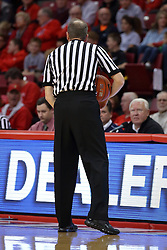 14 November 2016:  Randy Heimerman speaks to the officials bench during an NCAA  mens basketball game between the Indiana Purdue Fort Wayne Mastodons the Illinois State Redbirds in Redbird Arena, Normal IL
