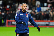 AFC Bournemouth forward Lewis Grabban before the Barclays Premier League match between Bournemouth and West Ham United at the Goldsands Stadium, Bournemouth, England on 12 January 2016. Photo by Graham Hunt.