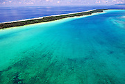 Aerial of Bora Bora atoll, Tahiti, French Polynesia