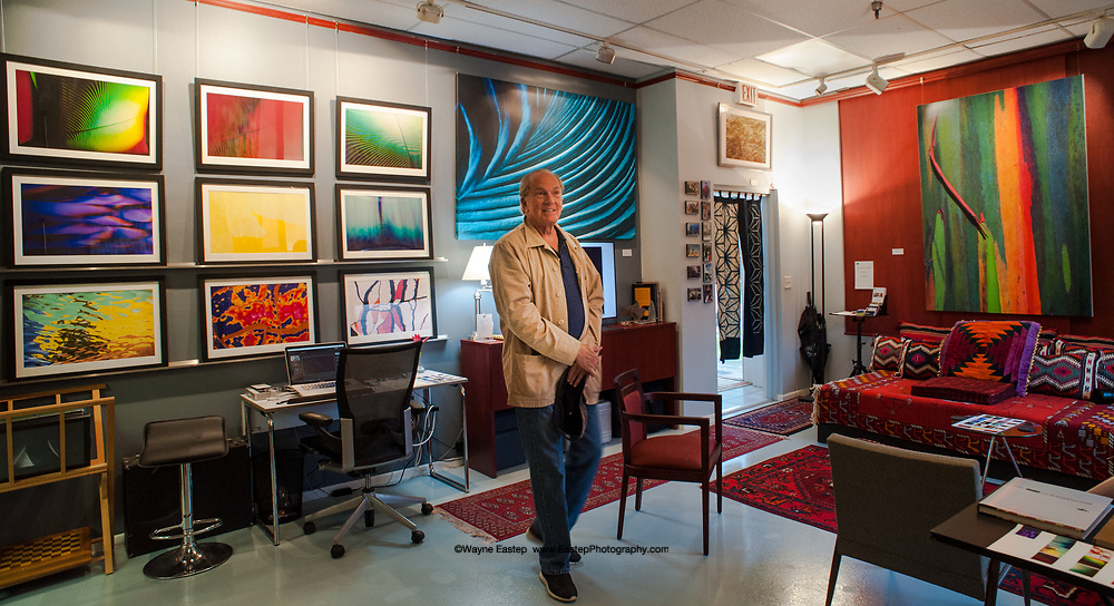 Sam Alfstad owner of Alfstad & Contemporary gallery in the Rosemary district of Sarasota visiting Eastep Photography Gallery.