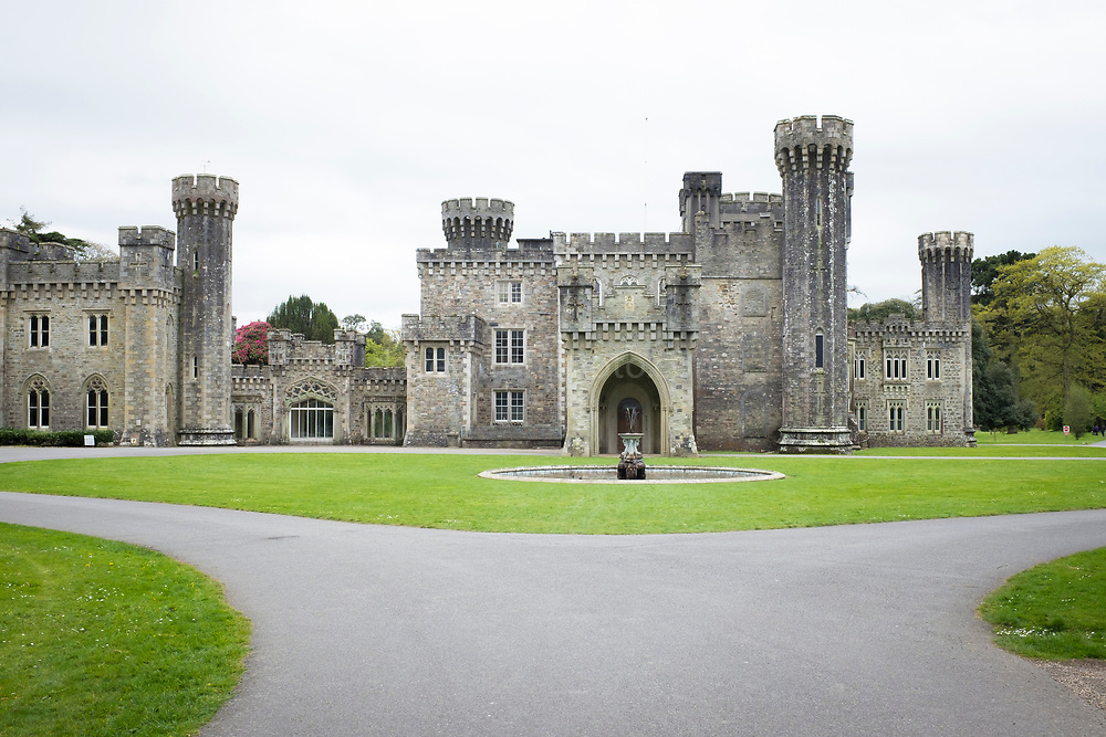 Johnstown Castle, Wexford, Ireland. 19th century Gothic Revival building developed from pre-existing Norman castle.