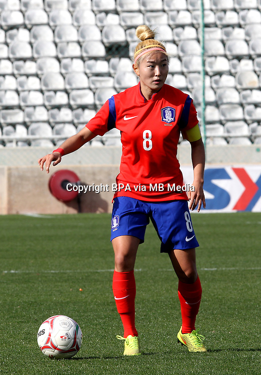 Fifa Womans World Cup Canada 2015 - Preview //<br /> Cyprus Cup 2015 Tournament ( Gsp Stadium Nicosia - Cyprus ) - <br /> South Korea vs Italy 1-2 , Cho Sohyun of South Korea