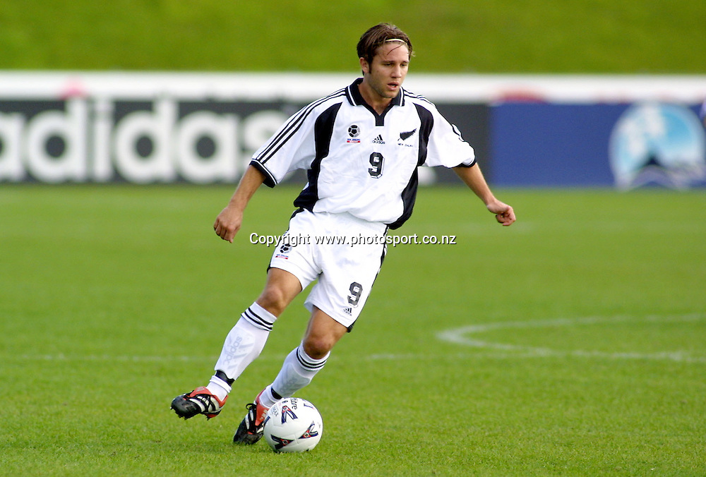 Paul Urlovic in action during the soccer match between the New Zealand All Whites and Solomon Islands, 11 June 2001 at North Harbour Stadium, Albany.<br /><br /> *** Local Caption ***