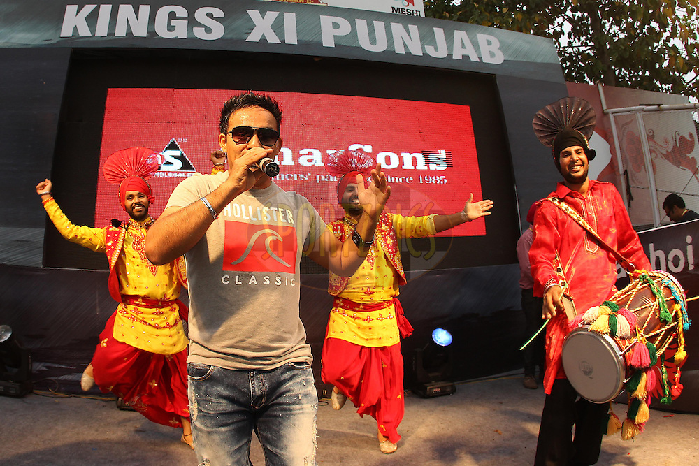 Performers entertain the crowd during the match build up  during match 59 of of the Pepsi Indian Premier League between The Kings XI Punjab and the Sunrisers Hyderabad held at the PCA Stadium, Mohal, India  on the 11th May 2013..Photo by Ron Gaunt-IPL-SPORTZPICS ..Use of this image is subject to the terms and conditions as outlined by the BCCI. These terms can be found by following this link:..http://www.sportzpics.co.za/image/I0000SoRagM2cIEc