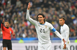 Uruguay's Edinson Cavani during France v Uruguay friendly football match at the Stade de France in Saint-Denis, suburb of Paris, France on November 20, 2018. France won 1-0. Photo by Christian Liewig/ABACAPRESS.COM