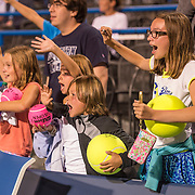 August 23, 2016, New Haven, Connecticut: <br /> Fans cheer during Day 5 of the 2016 Connecticut Open at the Yale University Tennis Center on Tuesday, August  23, 2016 in New Haven, Connecticut. <br /> (Photo by Billie Weiss/Connecticut Open)