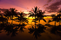 Sunset, Infinity Pool, Tokokiki Island Resort, Fiji Islands