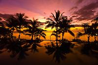Sunset, Infinity Pool, Tokokiki Island Resort, Fiji Islands