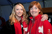Ashley McIvor and her mom Marilyn smile together after Ashley won a gold medal for ski cross during the 2010 Olympic Winter Games in Whistler, BC Canada.