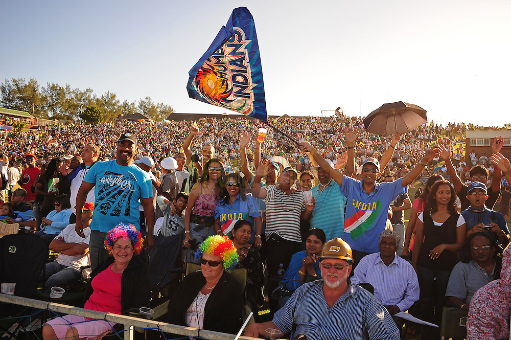 EAST LONDON, SOUTH AFRICA - 1 May 2009.  Spectators during the  IPL Season 2 match between the Mumbai Indians and the Kolkata Knight Riders held at Buffalo Park in East London. South Africa.