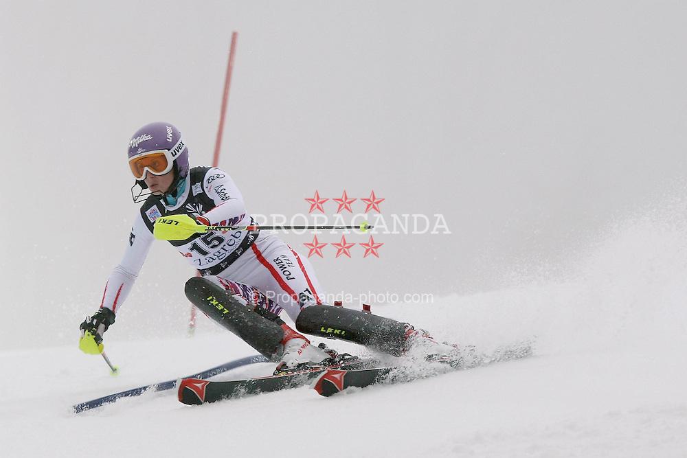 03.01.2012, Crveni Spust, Sljeme, CRO, FIS Weltcup Ski Alpin, Zagreb, Damen Slalom 1. Durchgang, im Bild Michaela Kirchgasser during Slalom race 1st run of FIS Ski Alpine World Cup at 'Crveni Spust' course in Sljeme, Zagreb, Croatia on 2012/01/03..EXPA Pictures © 2012, PhotoCredit: EXPA/ nph/ PIXSELL/ Sajin Strukic..***** ATTENTION - OUT OF GER, CRO *****