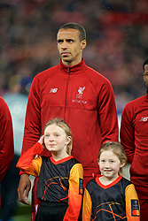 LIVERPOOL, ENGLAND - Tuesday, February 19, 2019: Liverpool's Joel Matip lines-up before the UEFA Champions League Round of 16 1st Leg match between Liverpool FC and FC Bayern München at Anfield. (Pic by David Rawcliffe/Propaganda)