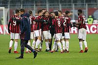 Milano - 10.12.2017 -   Milan-Bologna - Serie A 16a giornata   - nella foto:  Gennaro  Gattuso abbracciato dai giocatori a fine partita