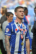 Wigan Midfielder Michael Jacobs after the Sky Bet League 1 match between Wigan Athletic and Barnsley at the DW Stadium, Wigan, England on 8 May 2016. Photo by John Marfleet.