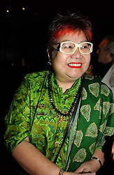 TV chef NANCY LAM at a fund raising dinner hosted by Marco Pierre White and Frankie Dettori's in aid of Conservative Party's General Election Campaign Fund held at Frankie's No.3 Yeoman's Row,æLondon SW3 on 17th January 2005.<br /><br />NON EXCLUSIVE - WORLD RIGHTS