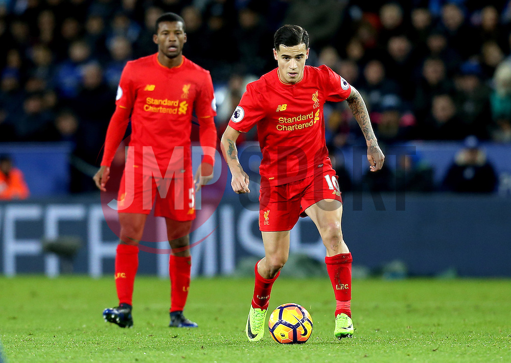 Philippe Coutinho of Liverpool runs with the ball - Mandatory by-line: Robbie Stephenson/JMP - 27/02/2017 - FOOTBALL - King Power Stadium - Leicester, England - Leicester City v Liverpool - Premier League