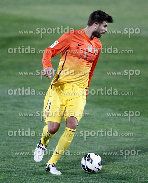 15.09.2012, Coliseum Alfonso Perez, Getafe, ESP, Primera Division, FC Getafe vs FC Barcelona, 04. Runde, im Bild FC Barcelona's Gerard Pique // during the Spanish Primera Division 04th round match between Getafe CF and Barcelona FC at the Coliseum Alfonso Perez, Getafe, Spain on 2012/09/15. EXPA Pictures © 2012, PhotoCredit: EXPA/ Alterphotos/ Acero..***** ATTENTION - OUT OF ESP and SUI *****