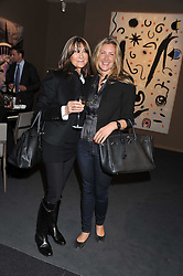 Left to right, CHERRYL COHEN and her daughter GEORGINA COHEN at the Private View of the Pavilion of Art & Design London 2011 held in Berkeley Square, London on 10th October 2011.