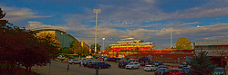 27 September 2014:   during an NCAA football game between the Austin Peay Governors and the Illinois State Redbirds at Hancock Stadium in Normal IL This image was produced in part utilizing High Dynamic Range (HDR) or panoramic stitching or other computer software manipulation processes. It should not be used editorially without being listed as an illustration or with a disclaimer. It may or may not be an accurate representation of the scene as originally photographed and the finished image is the creation of the photographer.