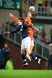 Falkirk's Blair Aston & Scott Robertson..Half-time. Dundee Utd 0 v 0 Falkirk. Scottish Communities League Cup, 25/10/2011..Pic © Michael Schofield.