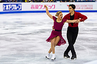 KELOWNA, BC - OCTOBER 25:  Canadian ice dancers Marjorie Lajoie and Zachary Lagha perform during rhythm dance of Skate Canada International held at Prospera Place on October 25, 2019 in Kelowna, Canada. (Photo by Marissa Baecker/Shoot the Breeze)