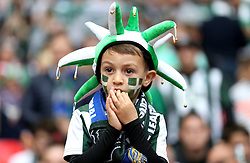 A young Plymouth Argyle fan looks on nervously at Wembley - Mandatory by-line: Robbie Stephenson/JMP - 30/05/2016 - FOOTBALL - Wembley Stadium - London, England - AFC Wimbledon v Plymouth Argyle - Sky Bet League Two Play-off Final