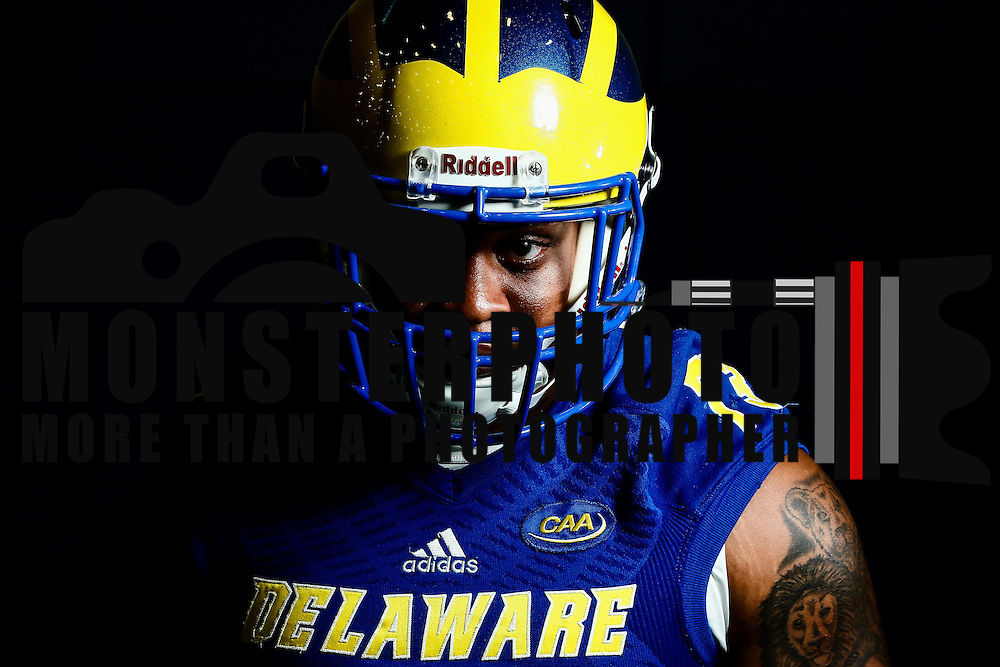 Photo of Delaware Defensive Tackle Blaine Woodson (73) taken Sunday, August 14, 2016, at Delaware Field House Facility on the campus of the university of Delaware in Newark.