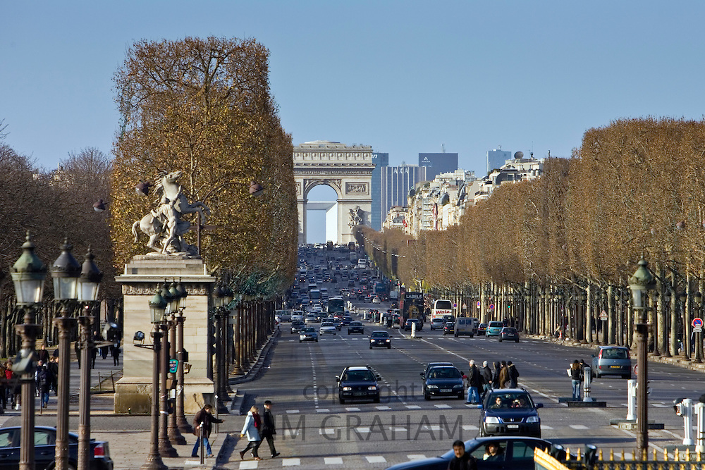 Champs-Élysées to the Arc de Triomphe, Paris, France