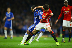 Matteo Darmian of Manchester United tackles Willian of Chelsea - Mandatory by-line: Jason Brown/JMP - 13/03/2017 - FOOTBALL - Stamford Bridge - London, England - Chelsea v Manchester United - Emirates FA Cup Quarter Final