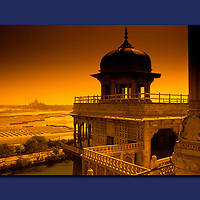 Red Fort, view from , The Taj Mahal, Agra, India, canvas, print,