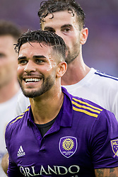 May 6, 2018 - Orlando, FL, U.S. - ORLANDO, FL - MAY 06: Orlando City forward Dom Dwyer (14) during the soccer match between the Orlando City Lions and Real Salt Lake on May 6, 2018 at Orlando City Stadium in Orlando FL. Photo by Joe Petro/Icon Sportswire) (Credit Image: © Joe Petro/Icon SMI via ZUMA Press)
