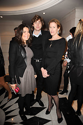 Left to right, Daniella Helayel, Mark Abegg de Boucherville and Sydney Ingle-Finch at a dinner hosted by jewellers Damiani at The Connaught Hotel, London on 3rd February 2010.