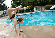 Pool party at Gracie Winn's home for the Hill's Gymnastics level 4 team on August 17, 2014. (Photo by Alan Lessig)