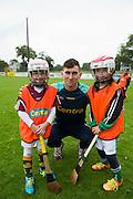 Galway Hurler Jason Flynn with Orla McLoughlin and   Naoise Coyne Castlegar <br />  Photo: Andrew Downes XPOSURE