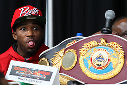 """Feb 23; St. Louis, MO, USA; Adrien Broner during the final press conference for the February 25, 2012 fight card """"Arch Enemies"""".  Mandatory Credit: Ed Mulholland"""