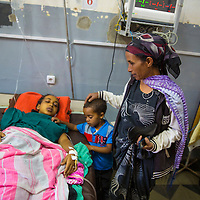 A woman suffering from obstructed labor is transported and arrives at the Harar government hospital.