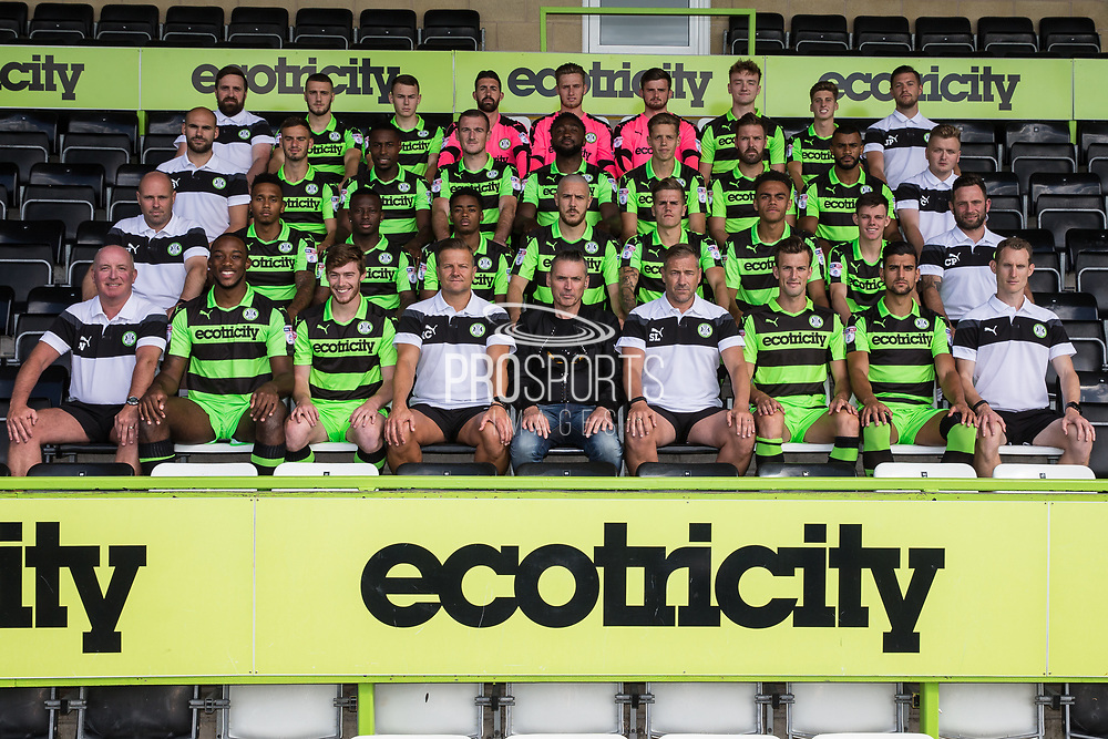 Forest Green Rovers Team photo 2017/18 during the Forest Green Rovers Photocall at the New Lawn, Forest Green, United Kingdom on 31 July 2017. Photo by Shane Healey.